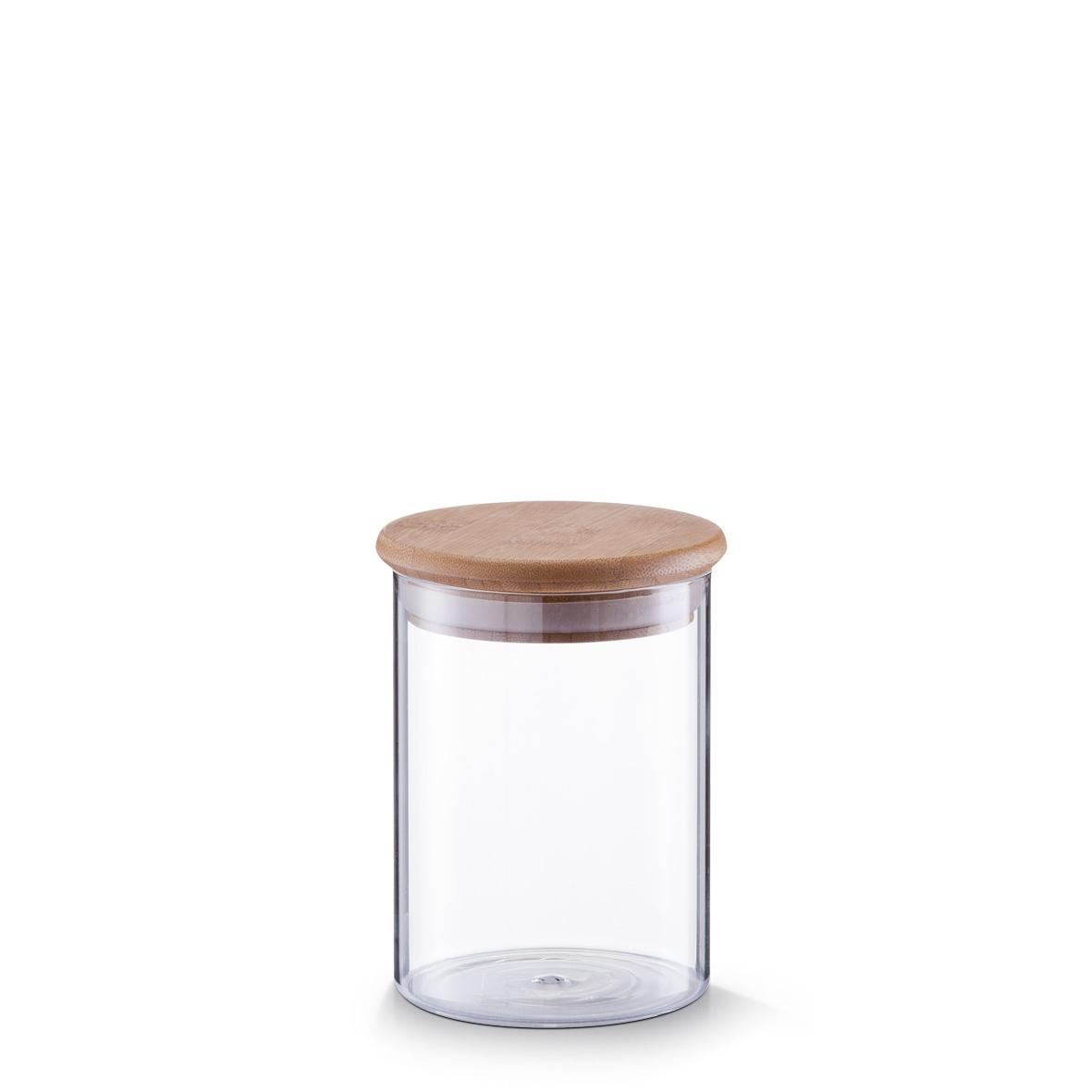 Recipient pentru depozitare din sticla, capac etans, Bamboo 750 ml, Ø 10,5xH14 cm imagine
