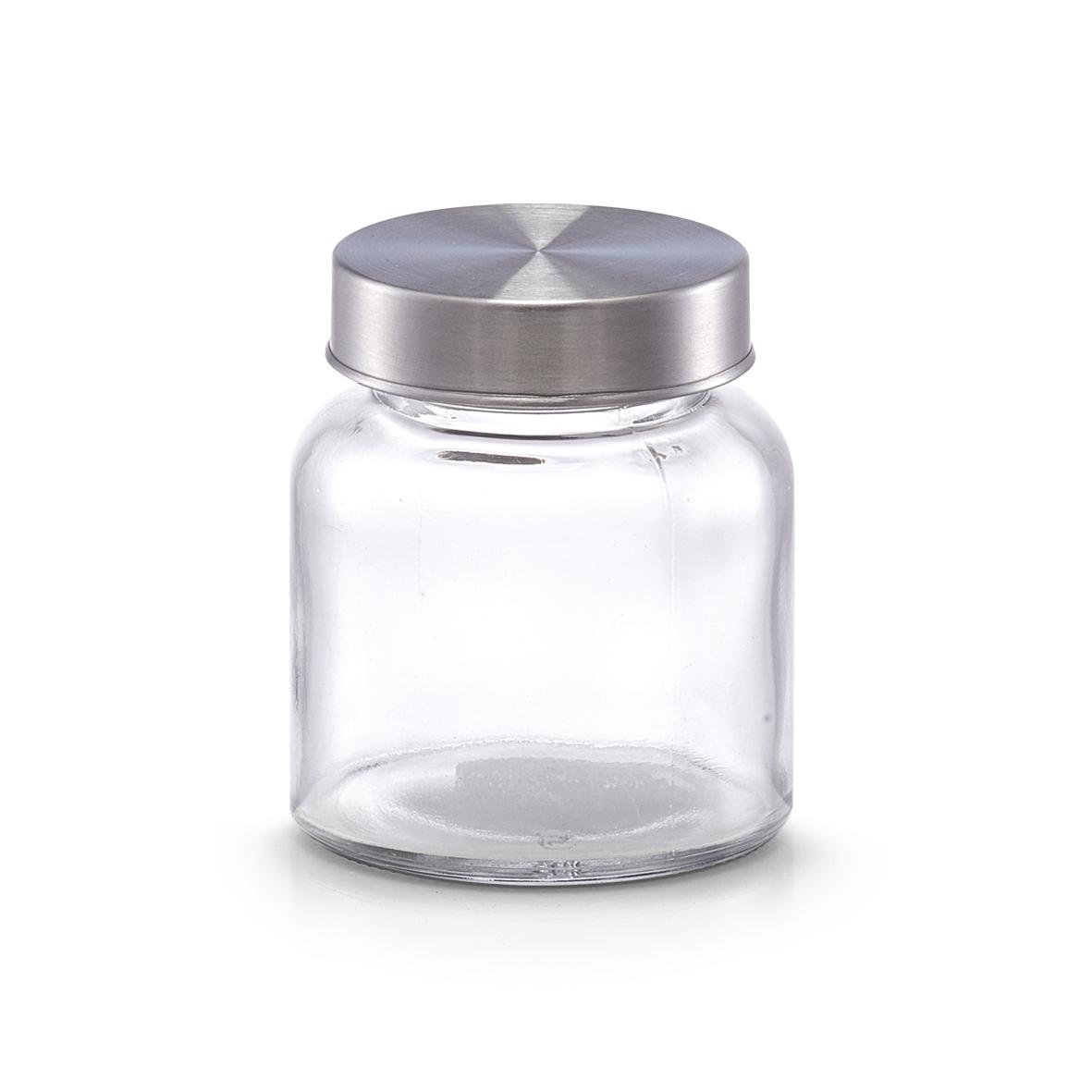 Recipient pentru depozitare din sticla Mini, capac metalic, 150 ml, Ø 6,8xH7,8 cm( 474757)