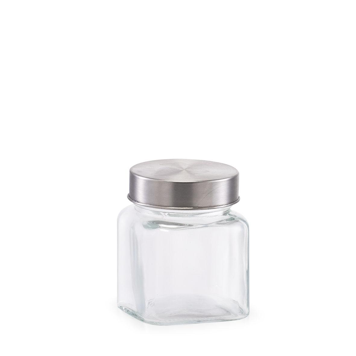 Recipient pentru depozitare din sticla Mini, capac metalic, 250 ml, Ø7,5xH9,1 cm( 476735)