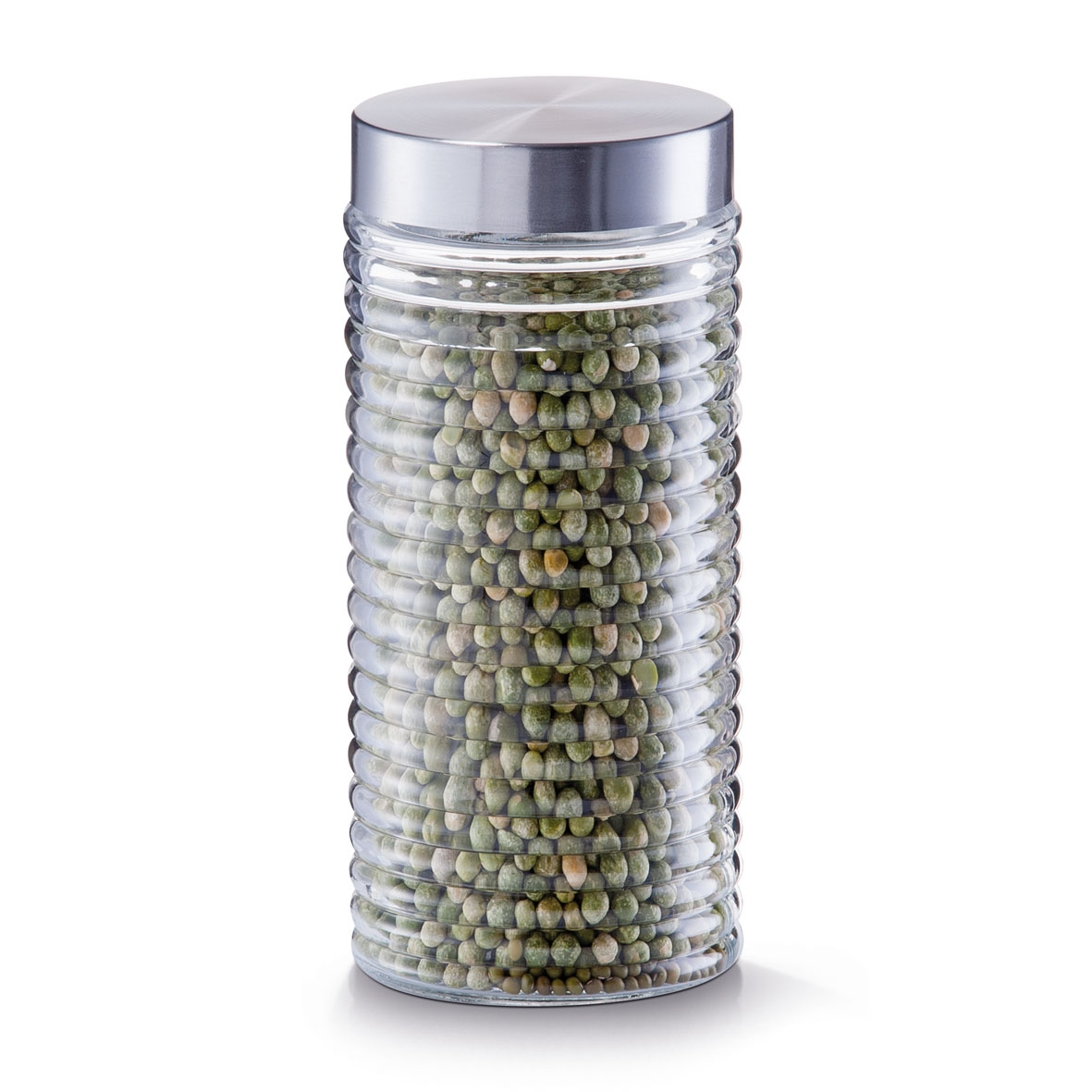 Recipient pentru depozitare Geri, capac inox, Glass 1400 ml, Ø 10,5xH22,5 cm poza