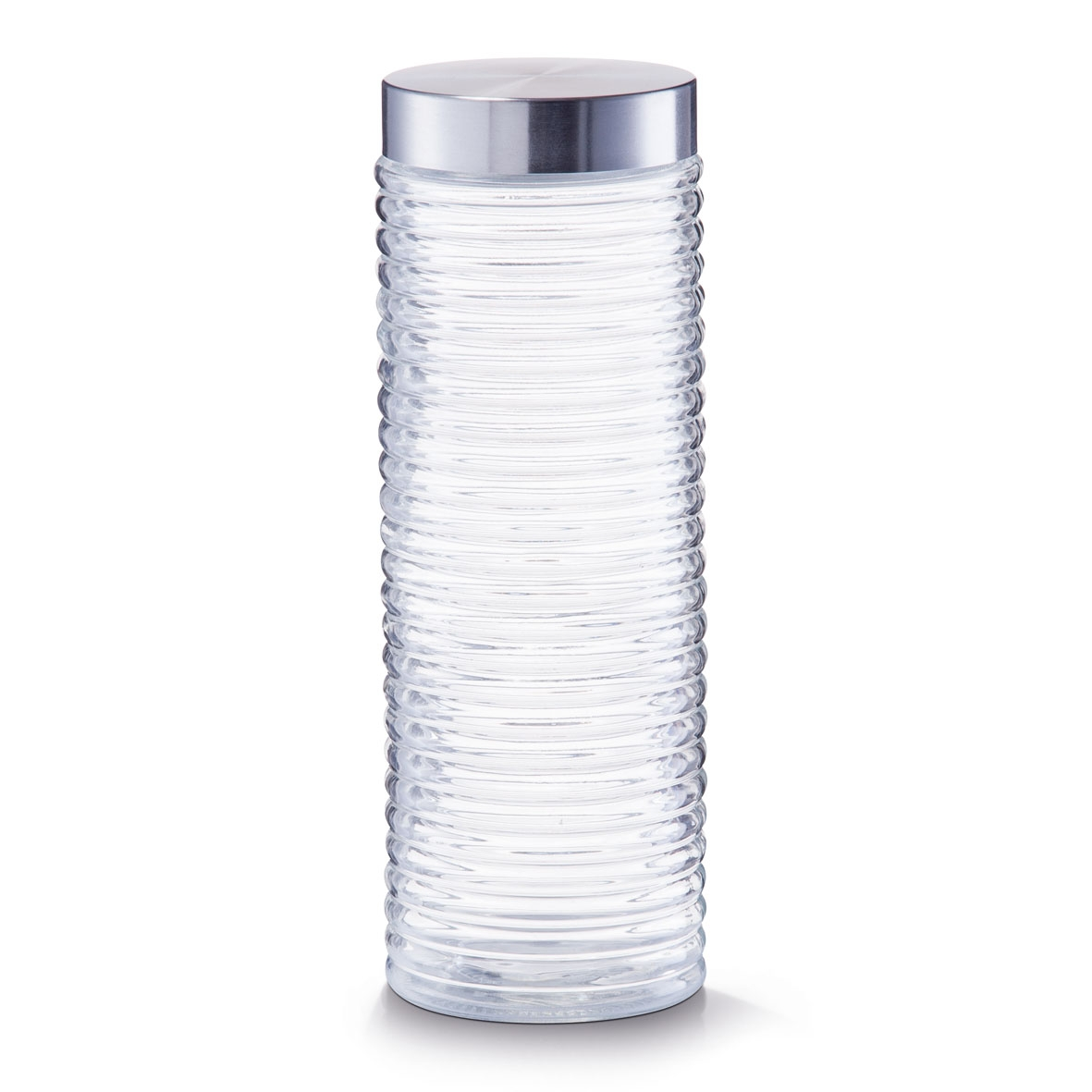 Recipient pentru depozitare Geri, capac inox, Glass 2000 ml, Ø 10,5xH29,5 cm imagine