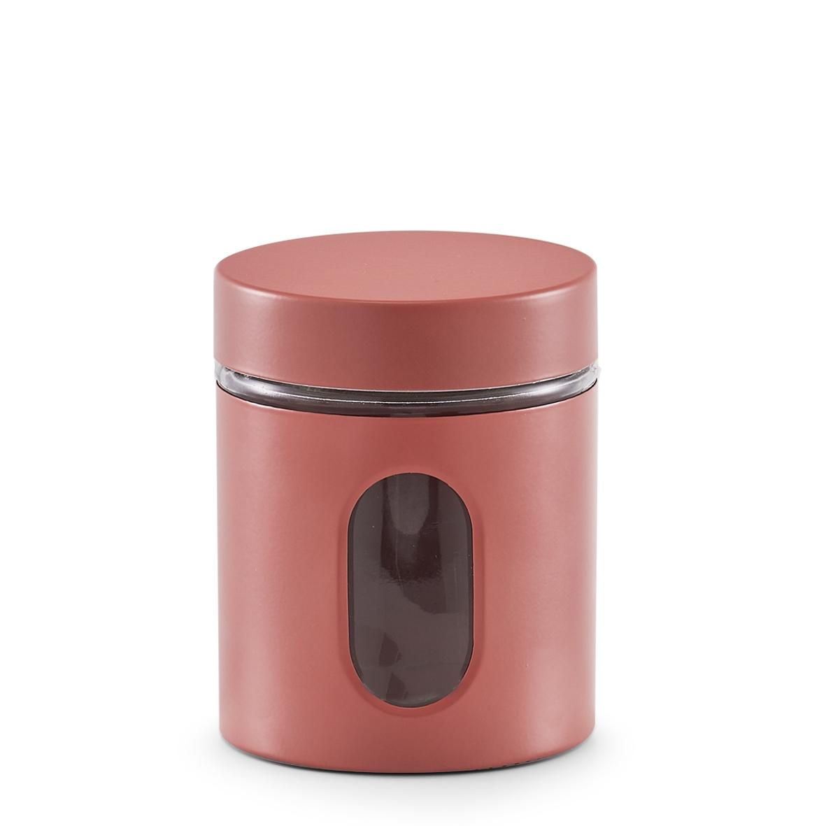 Recipient pentru depozitare Visual, metal si sticla, Coral 600 ml, Ø10,2xH12,5 cm