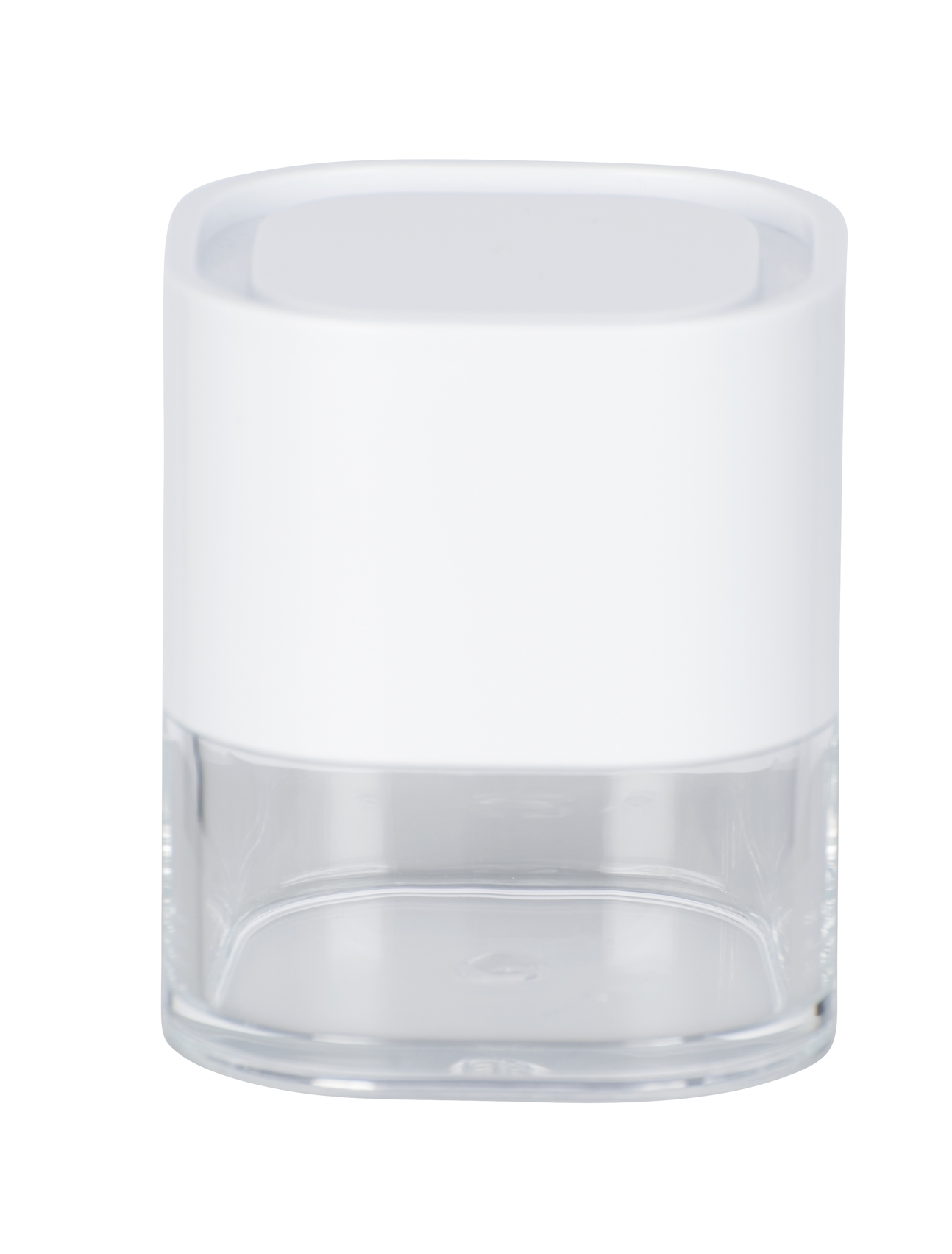 Recipient pentru dischete demachiante, din acril Oria Alb, L7,5xl7,5xH8,5 cm imagine