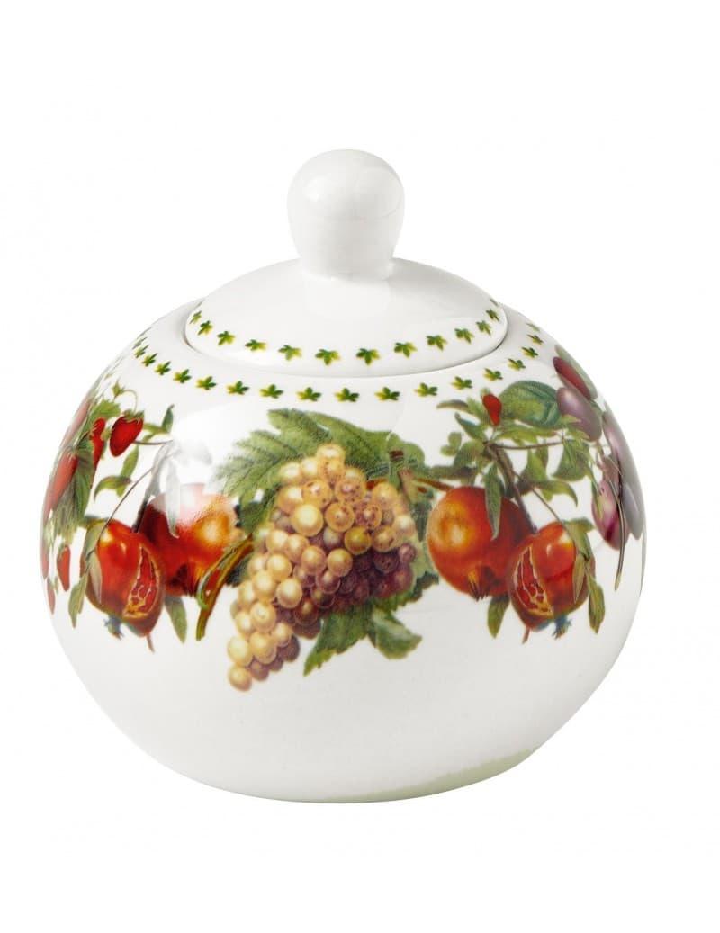 Recipient pentru zahar cu capac din portelan, Le Primizie Alb / Multicolor, Ø11xH10 cm somproduct.ro