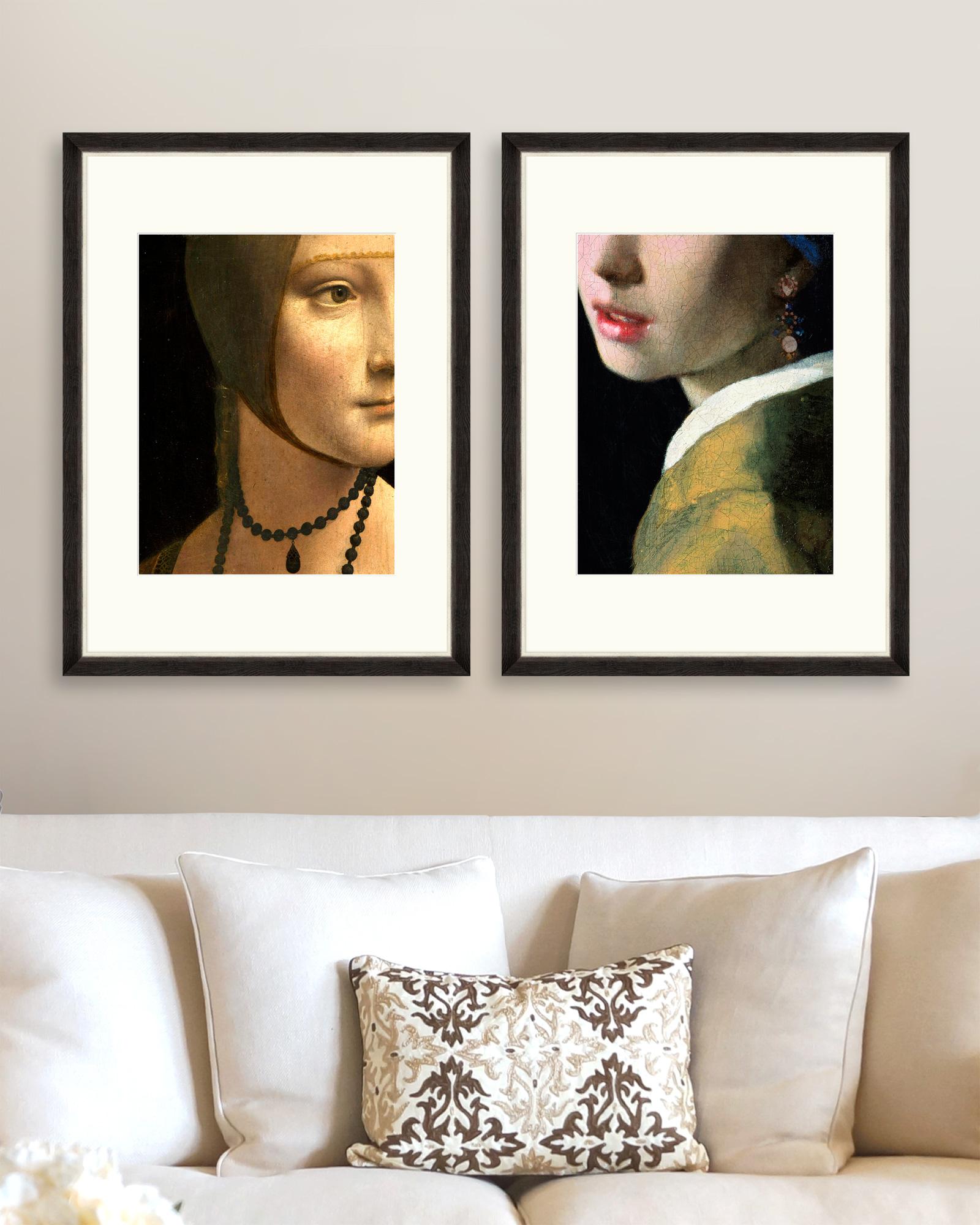 Tablou 2 piese Framed Art Renascentist Portrait Details