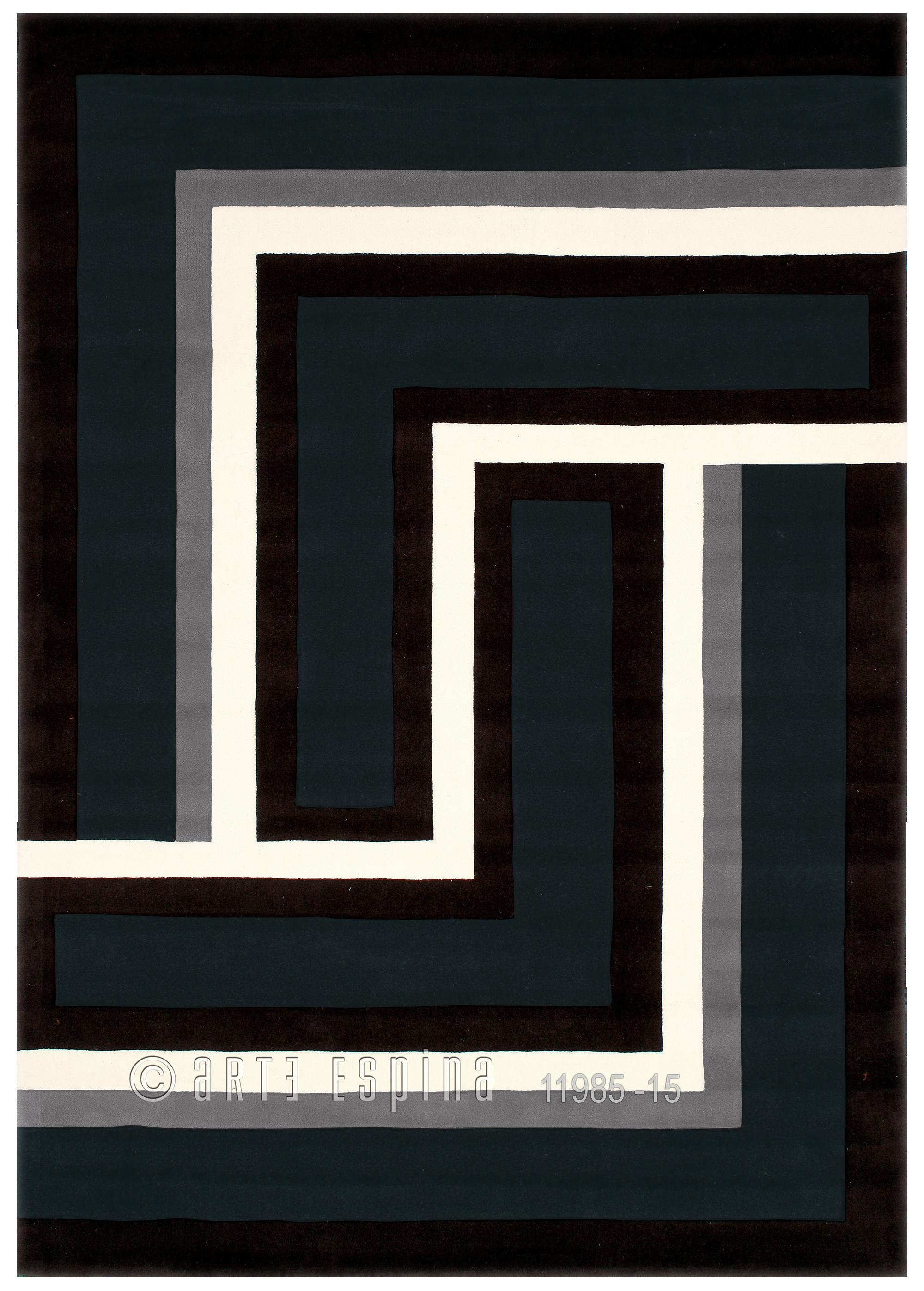 Covor Joy Negru/Gri/Alb, Tesut manual, 4071-68