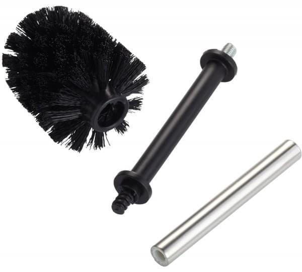 Rezerva perie toaleta din plastic, cu maner din otel inoxidabil, Toilet Brush Crom, 35 cm