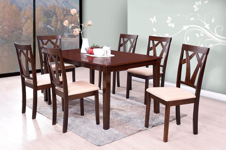 Set masa din MDF si furnir + 6 scaune Arthur