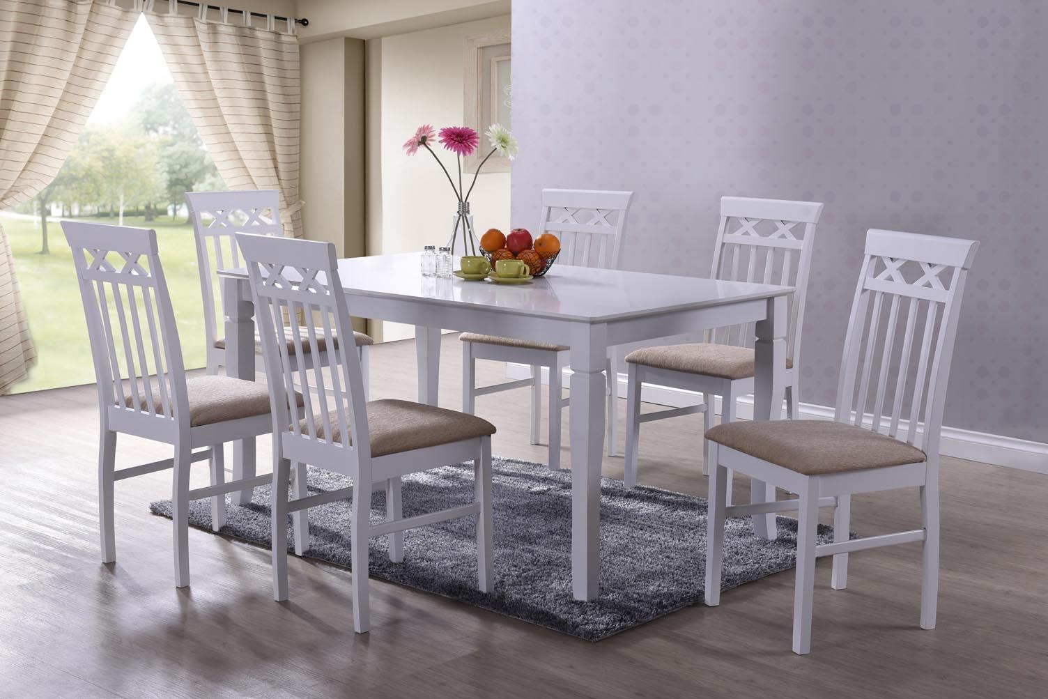 Set masa din MDF si furnir + 6 scaune Colette