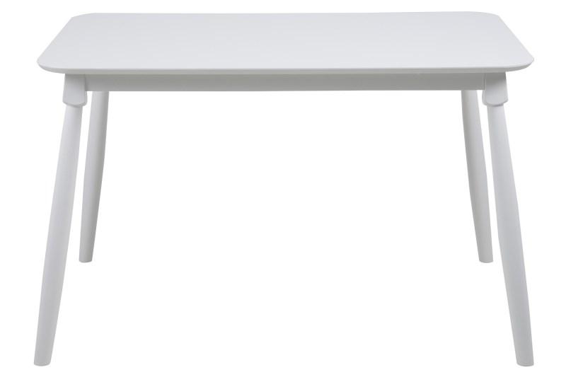 Masa din MDF si lemn Riano Dining White, L118xl77xh73,8 cm title=Masa din MDF si lemn Riano Dining White, L118xl77xh73,8 cm