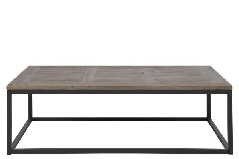 Masa de cafea din lemn si metal Rockwood, L130xl70xh40 cm