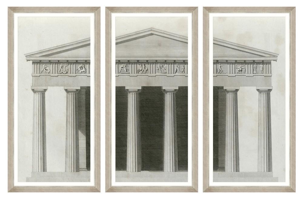 Tablou 3 piese Framed Art Roman Aedificium