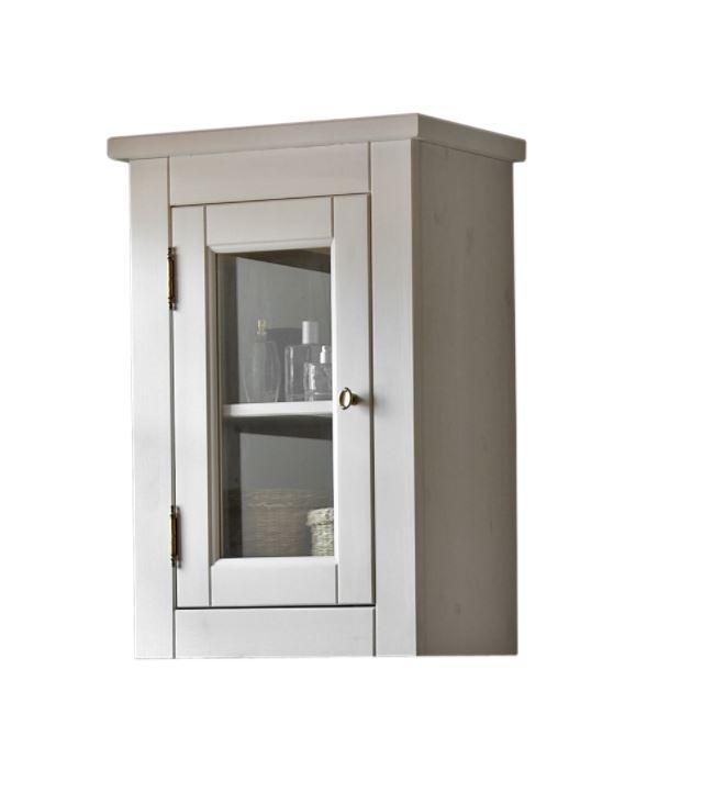 Dulap baie suspendat cu vitrina 1 usa Romantic l45xA25xH65 cm