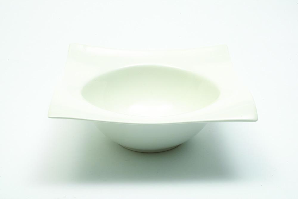Set 6 Boluri Motion Square Alb, Portelan, l19 cm