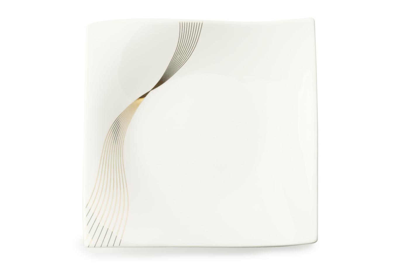 Set 4 farfurii Alb, Frequency, 18 cm