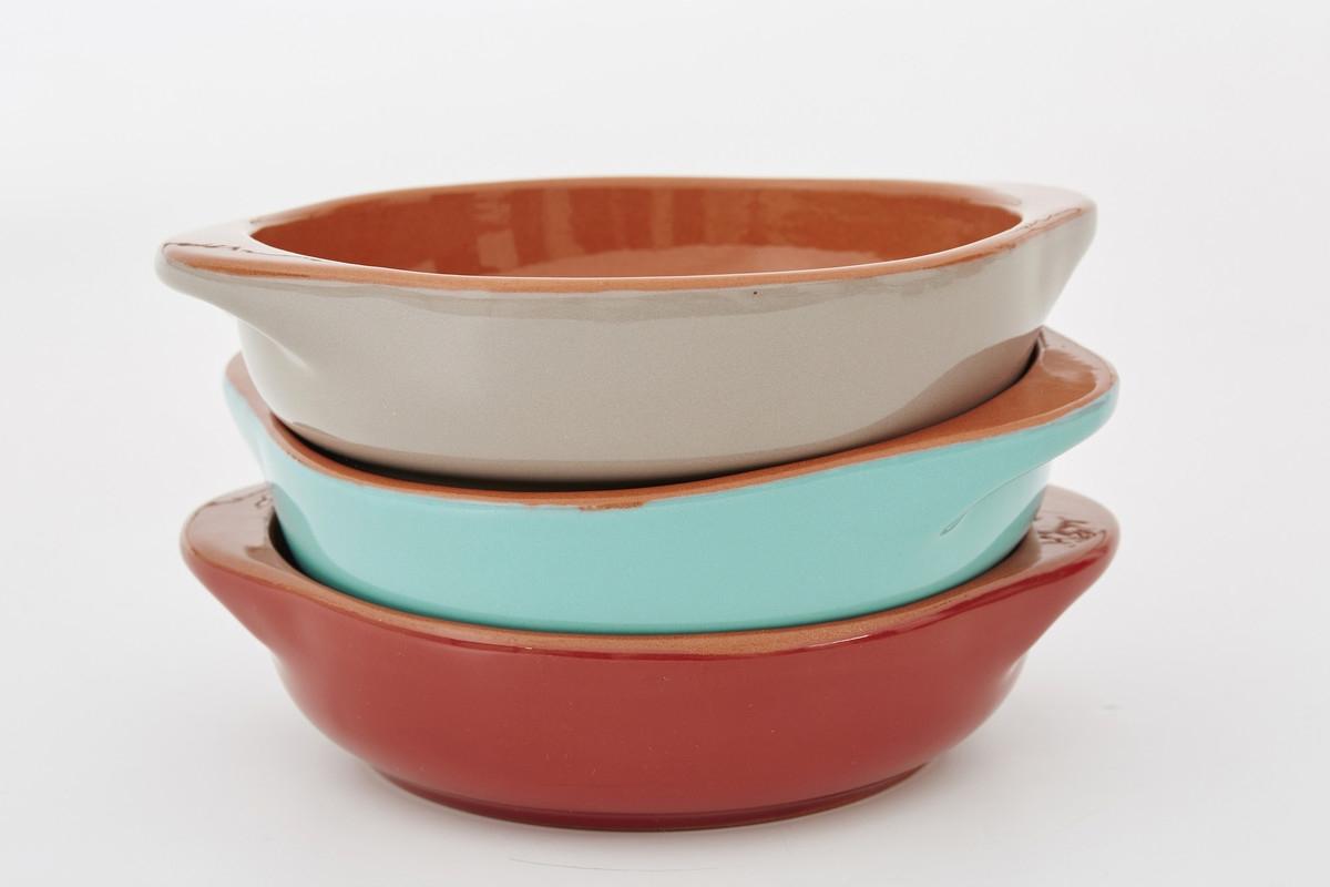 Set vase ceramice pentru cuptor Grey O 14 cm Jamie Oliver 3 piese
