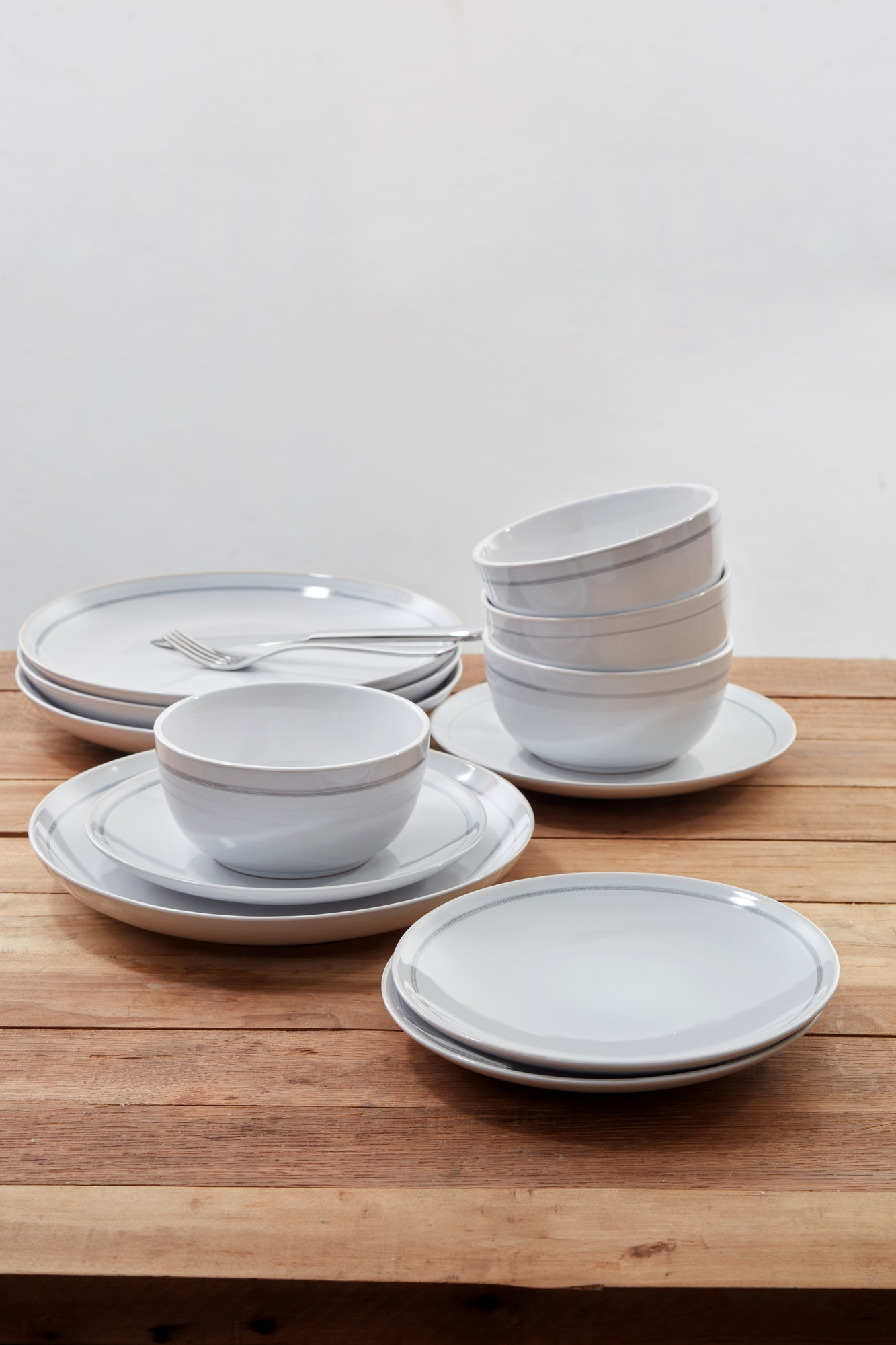 Set vesela Patine Stoneware, White, Jamie Oliver, 12 piese imagine