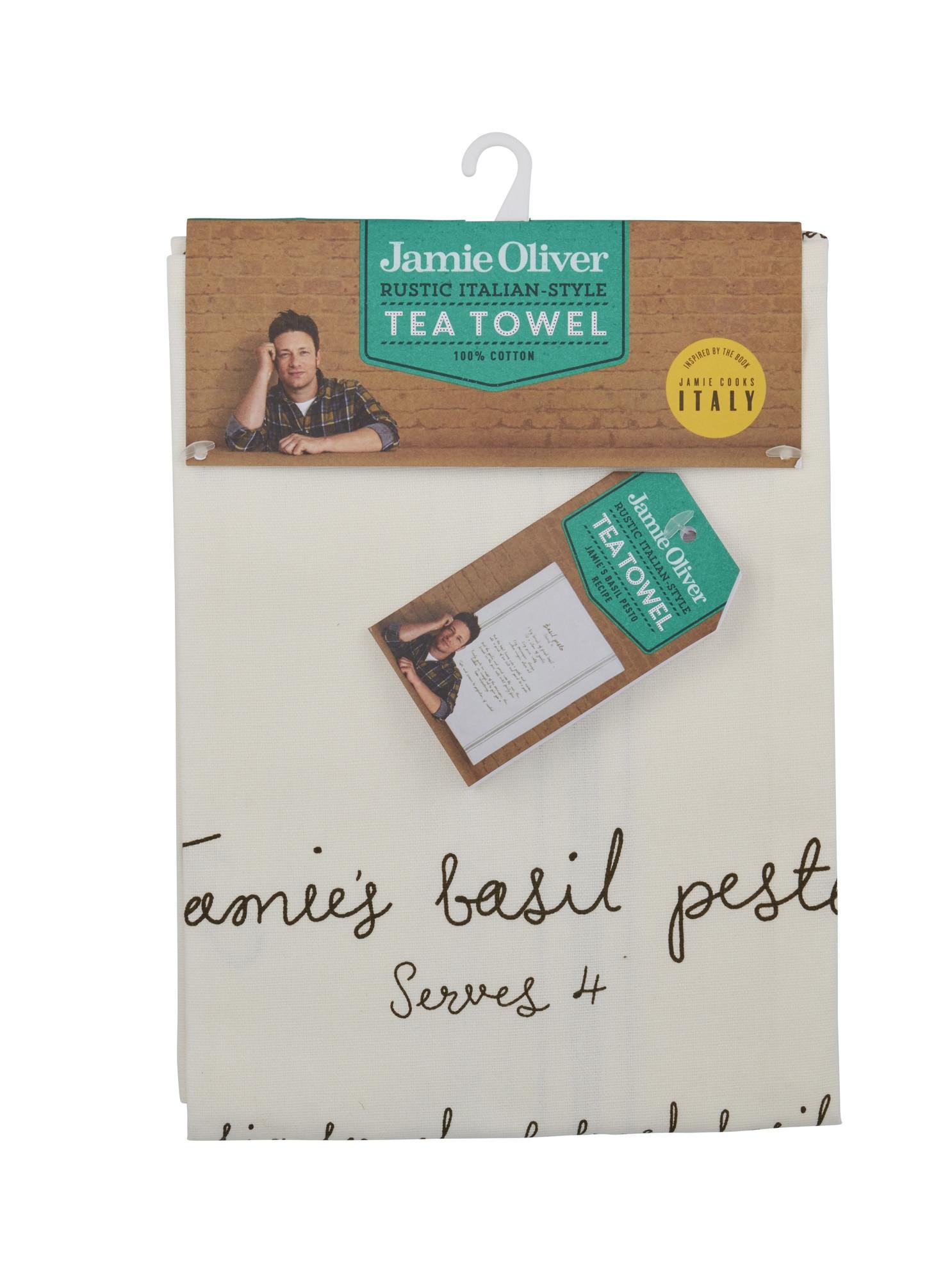 Prosop de bucatarie cu reteta 50 x 70 cm, Basil Pesto, Jamie Oliver imagine