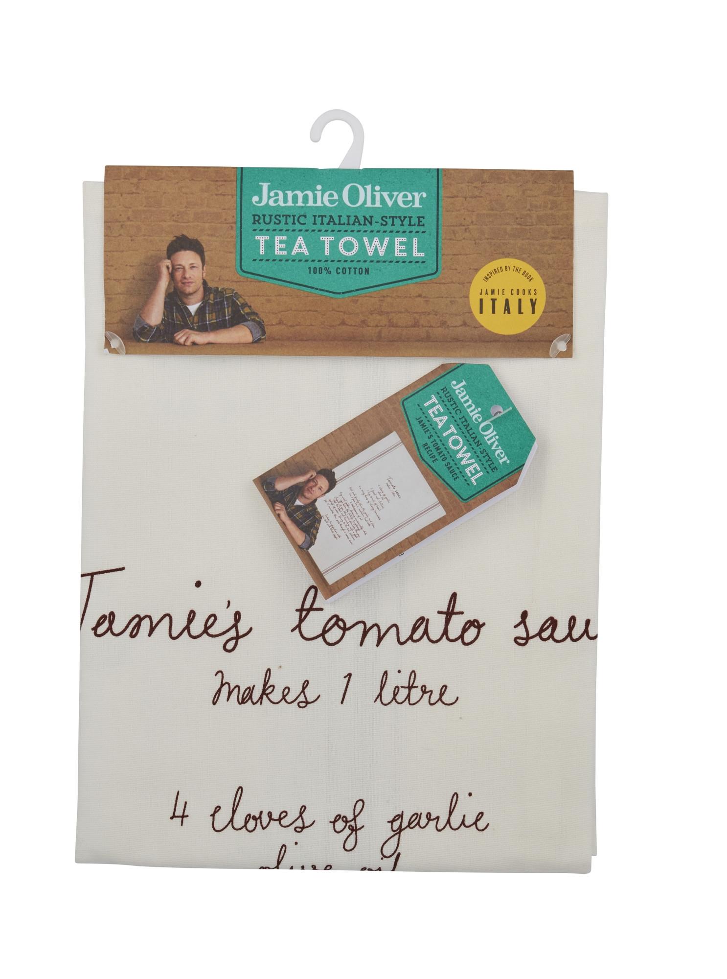 Prosop de bucatarie cu reteta 50 x 70 cm, Tomato Sauce, Jamie Oliver din categoria Bucatarie