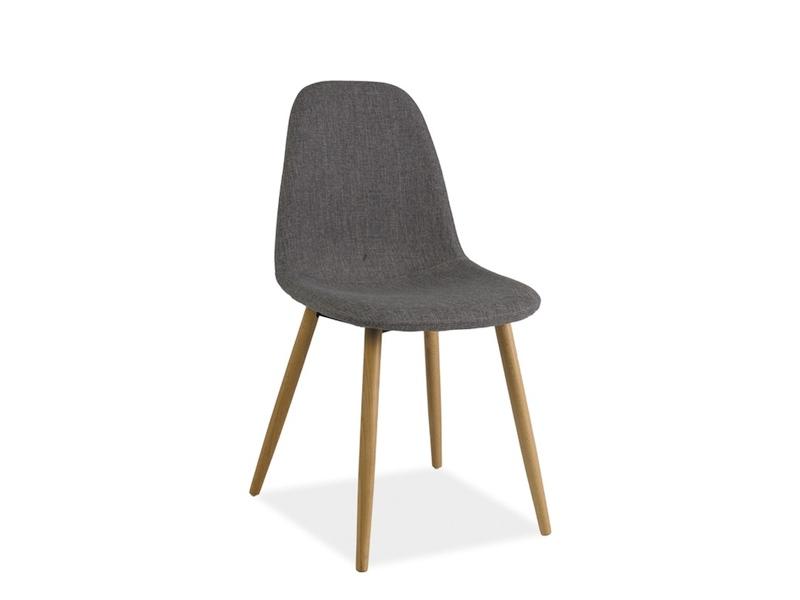 Scaun din lemn tapitat Rubi Grey