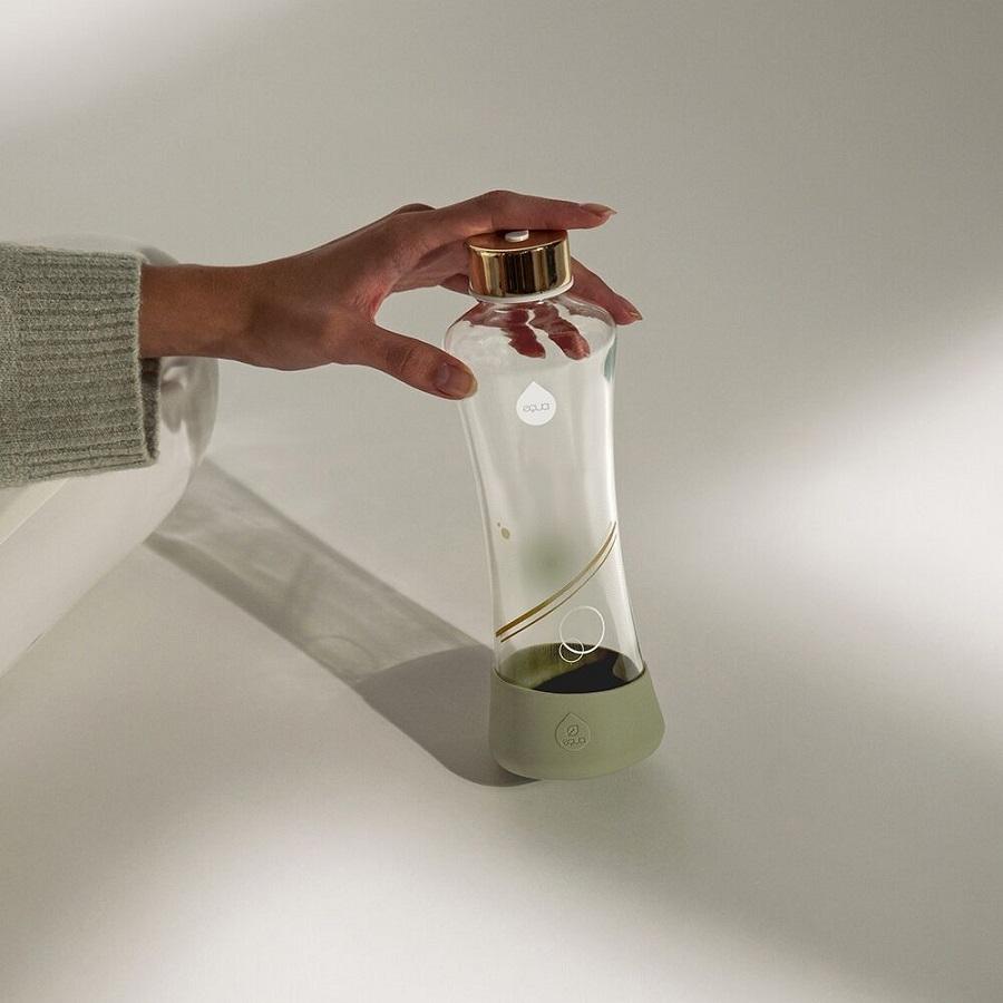 "Sticla pentru apa Equa ""Metallic Gold-550 ml somproduct.ro"