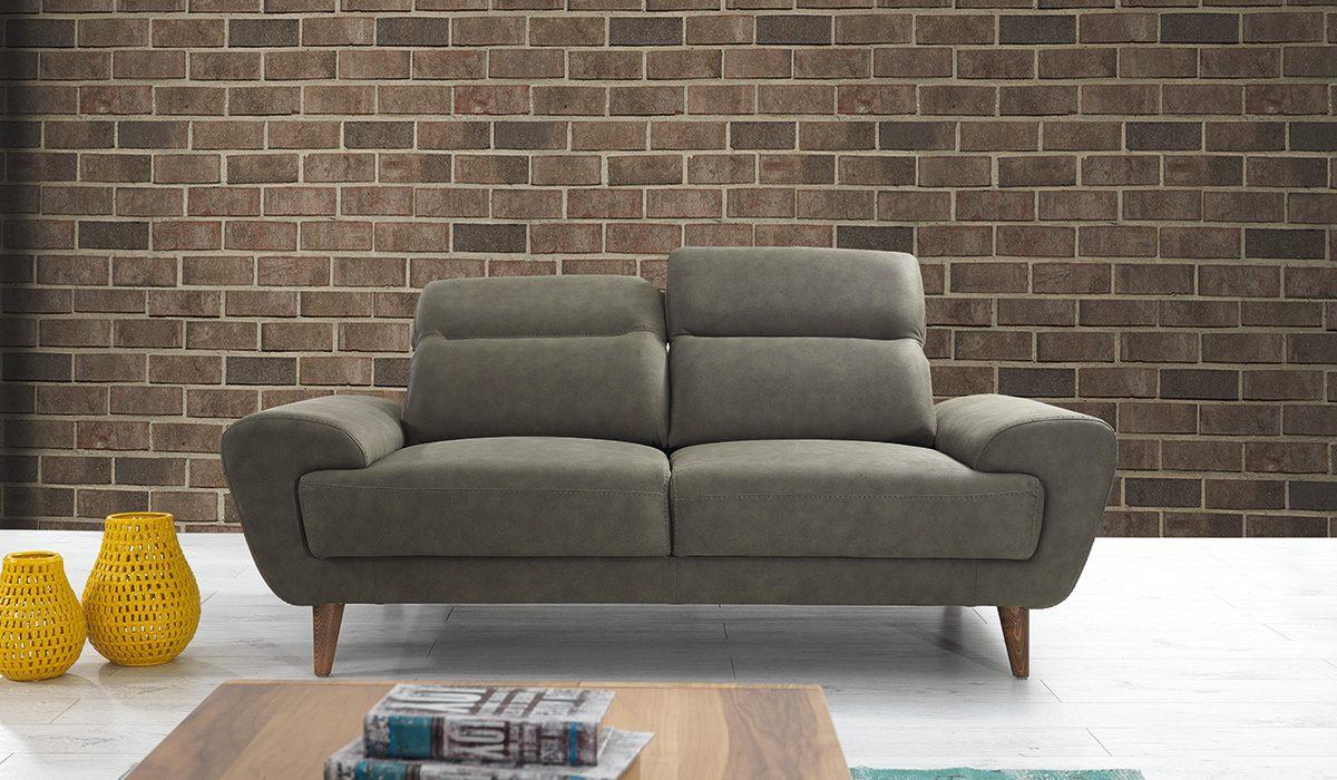Canapea fixa 2 locuri Sahra Green
