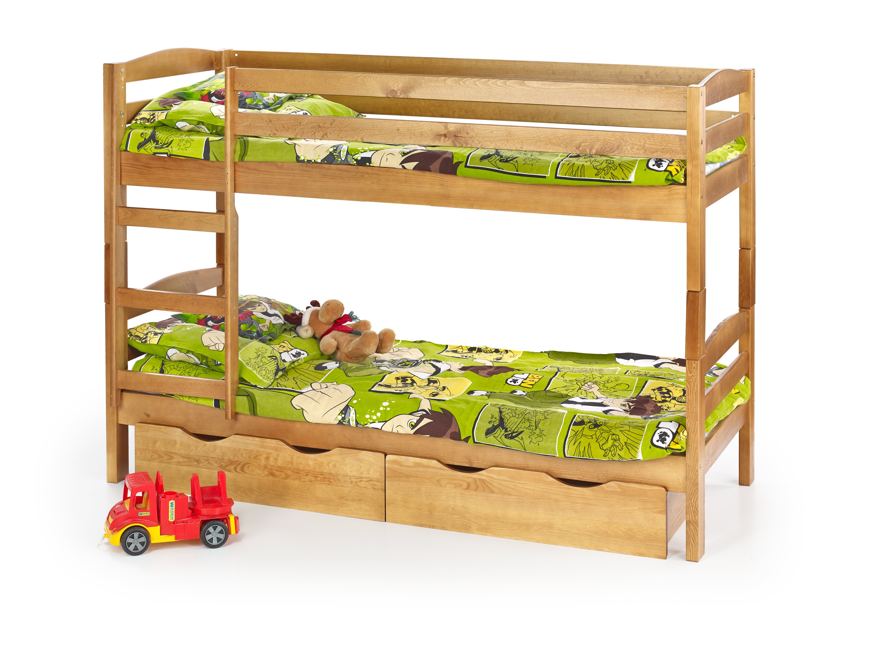 Pat din lemn de pin pentru copii Sam