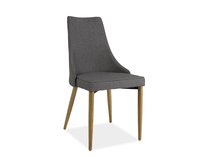 Scaun tapitat cu stofa, cu picioare din lemn Sand Grey / Beech, l49xA46xH92 cm