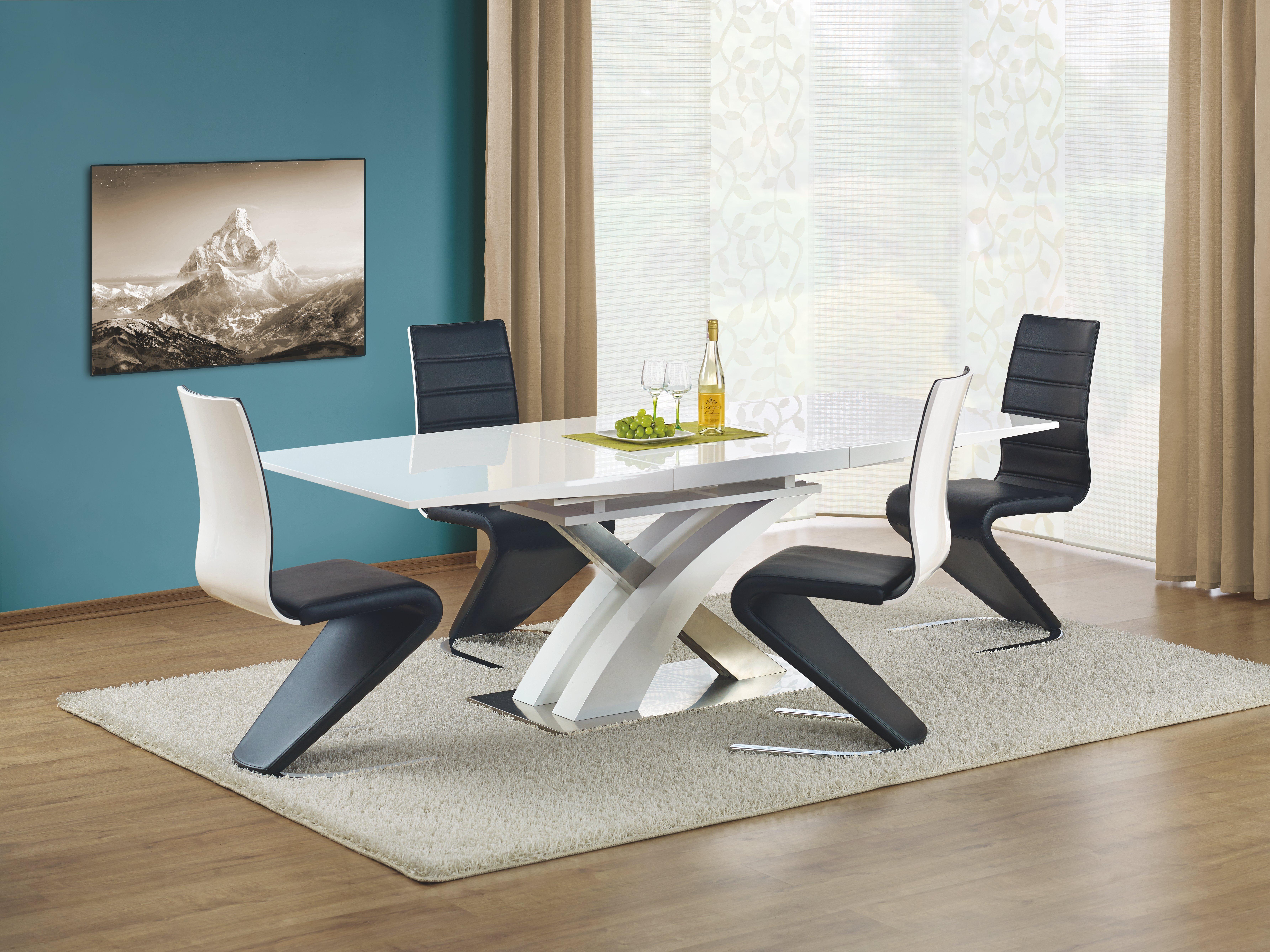 Set Masa din MDF Sandor White + 4 scaune K194