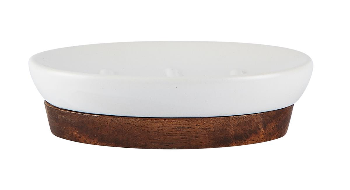 Sapuniera din ceramica Kj-Alb