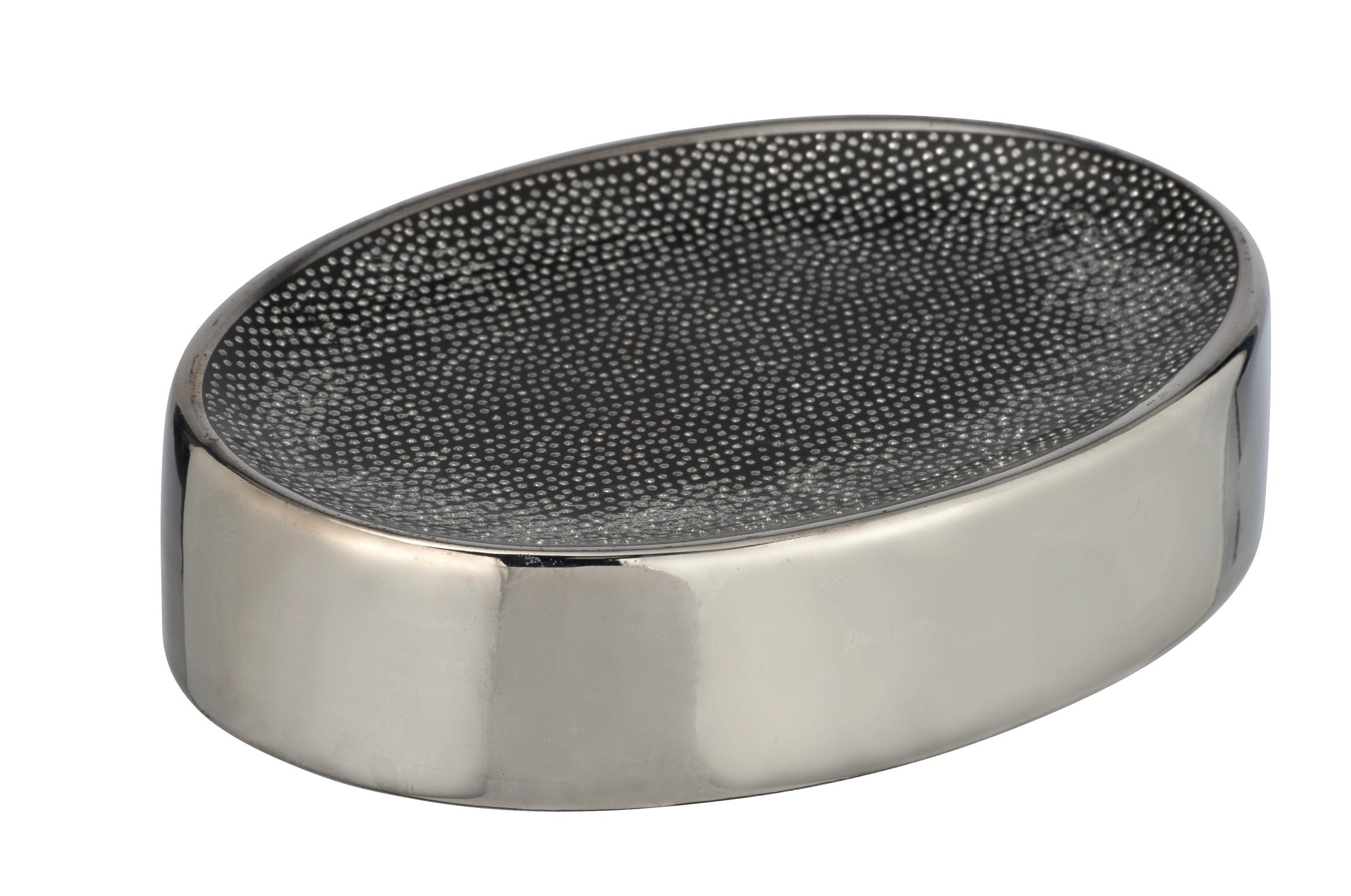 Sapuniera din ceramica Nuria Argintiu / Antracit, L12xl8xH3 cm imagine