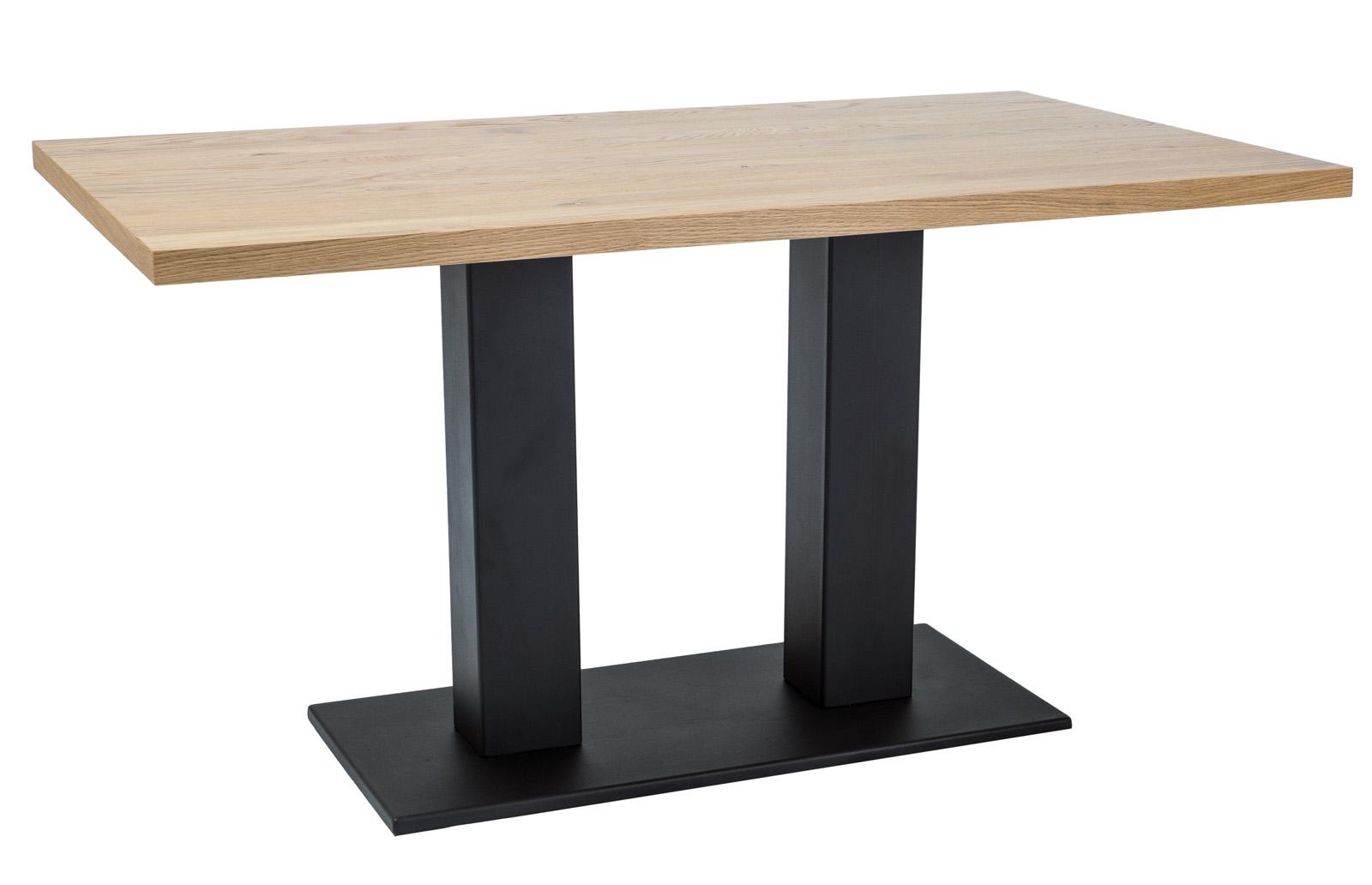 Masa din metal si lemn de stejar Sauron Dab, L120xl80xh78 cm imagine