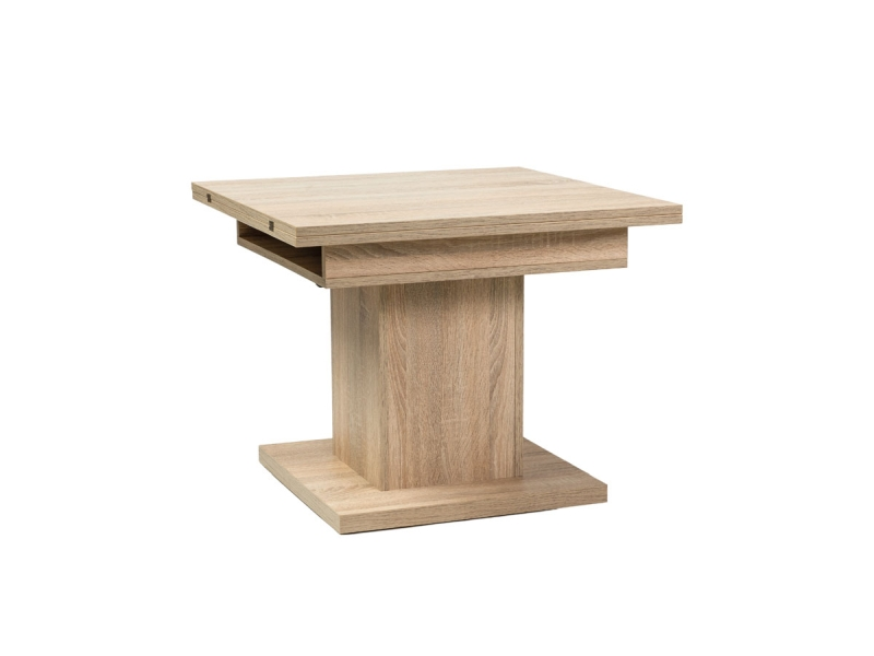 Masa extensibila din pal Scala Sonoma Oak, L75-150xl75xh59-76 cm