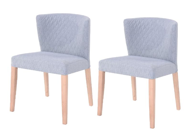 Set 2 scaune din lemn tapitate cu stofa Lara l52xA49xH78 cm