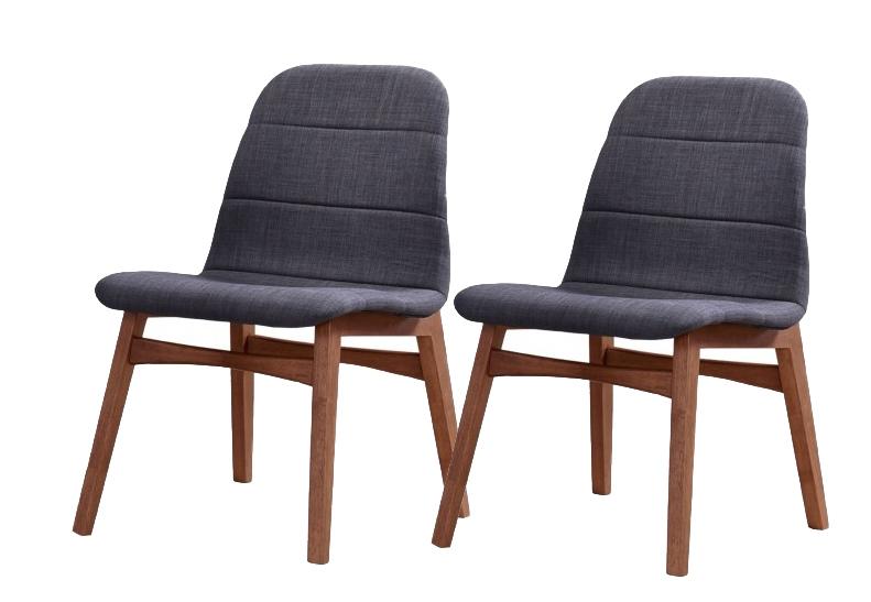 Set 2 scaune din lemn tapitate cu stofa Mia l495xA57xH835 cm