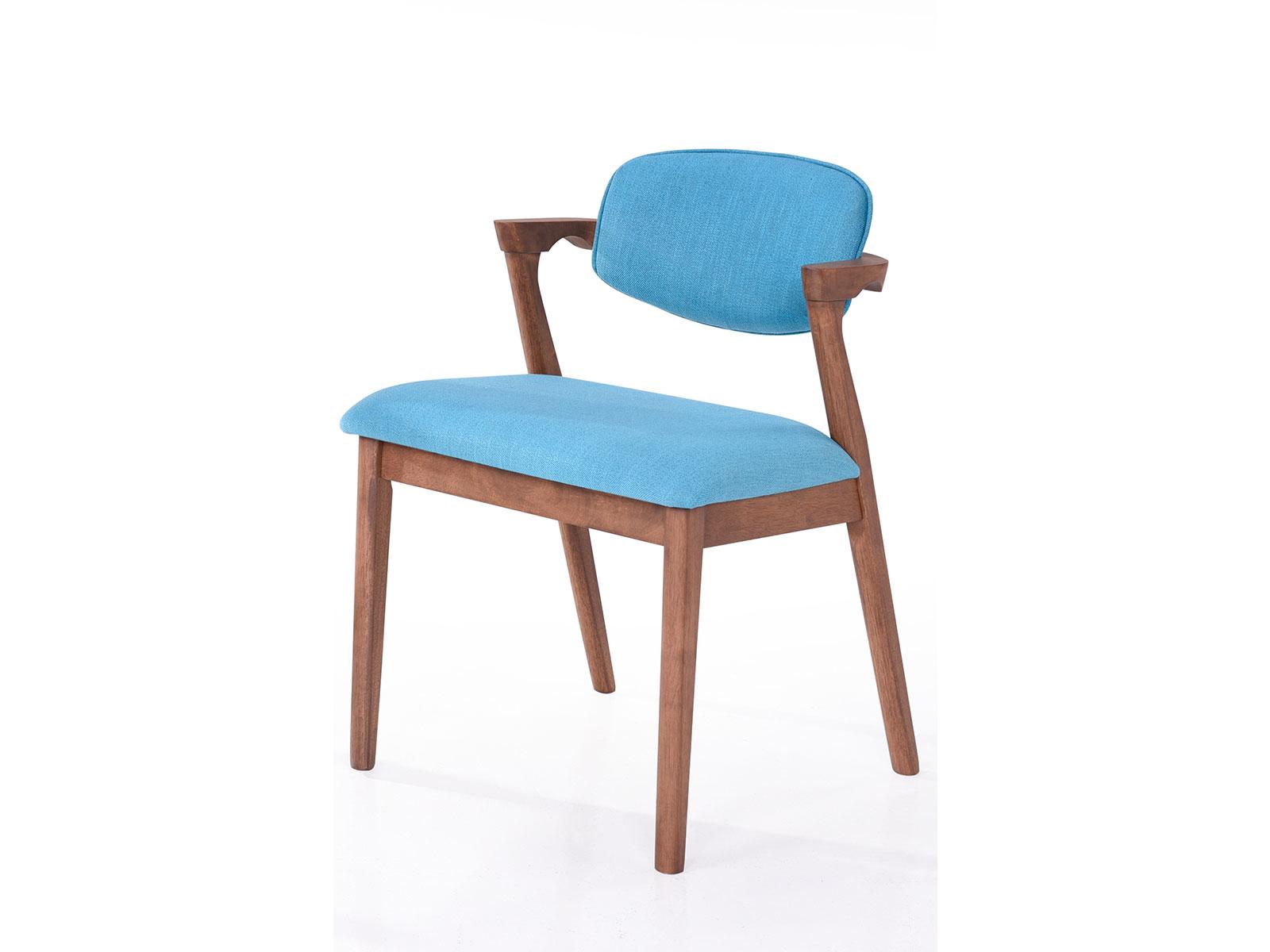 Scaun tapitat cu stofa water resistant Ivonne Blue l59xA55xH795 cm