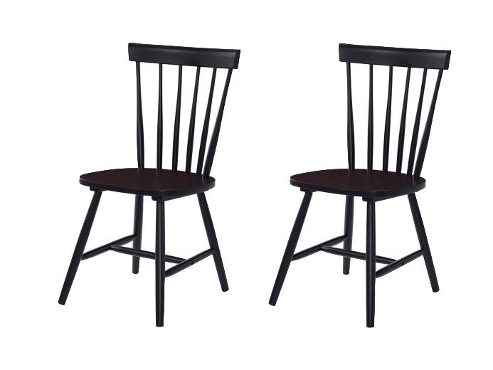 Set 2 scaune din lemn Guus Black l44xA49xH885 cm