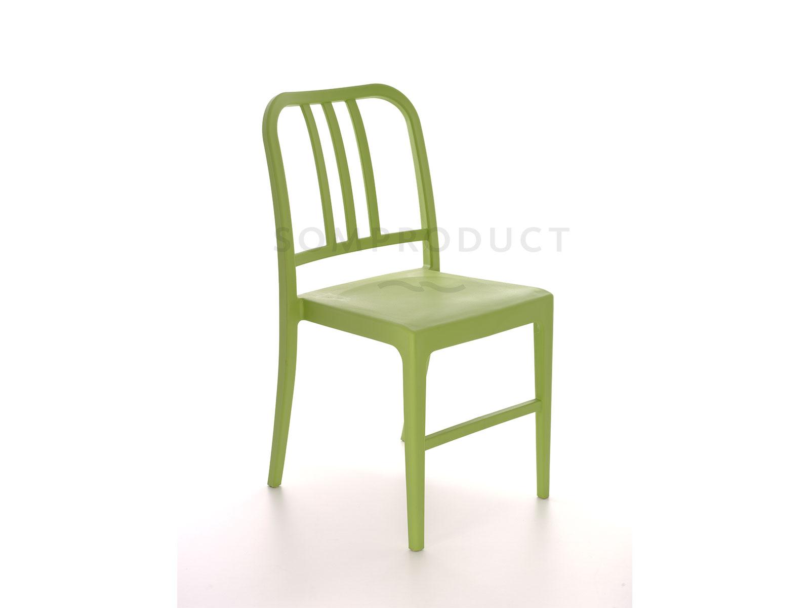 Scaun din plastic Luca Green, l50xA44xH80 cm
