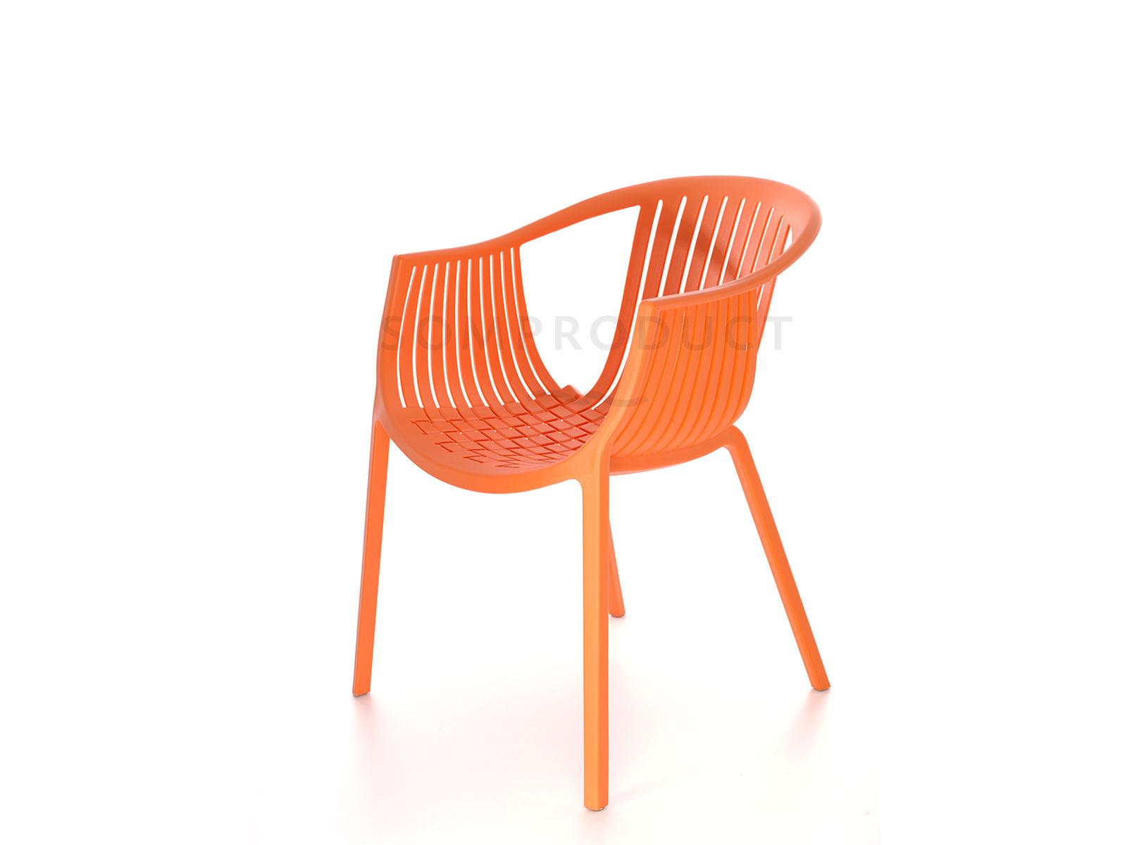Scaun din plastic Luigi Orange l53xA64xH76 cm