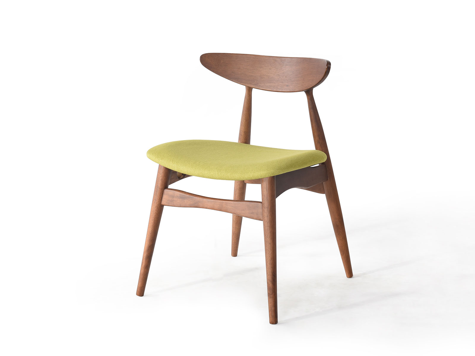 Scaun din lemn cu sezut tapitat cu piele ecologica Jana Green l52xA495xH73 cm