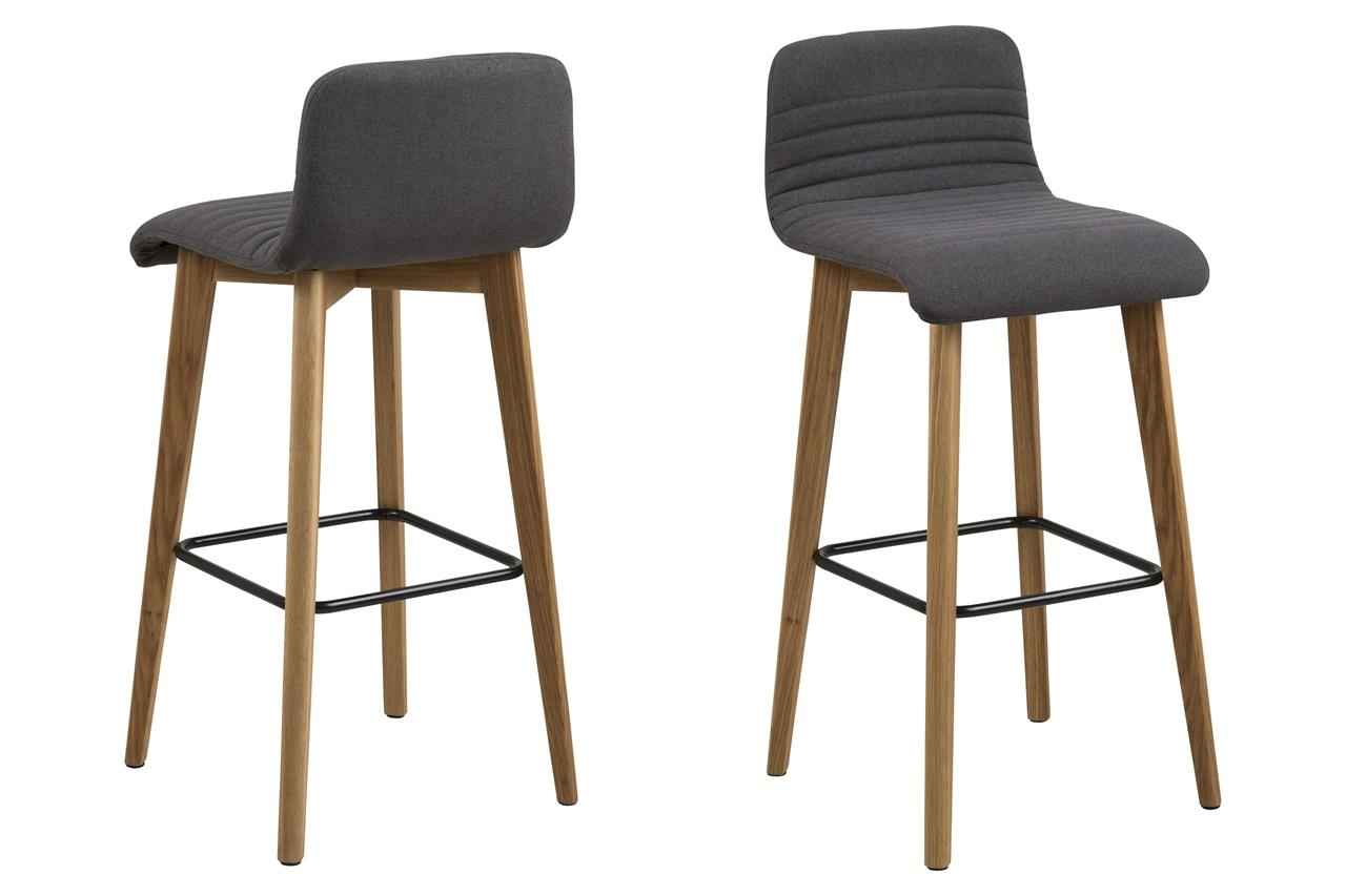 Set 2 scaune de bar tapitate Arosa Anthracite