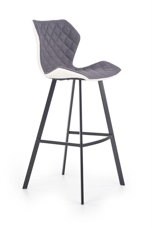 Scaun de bar H-83 White / Grey / Black