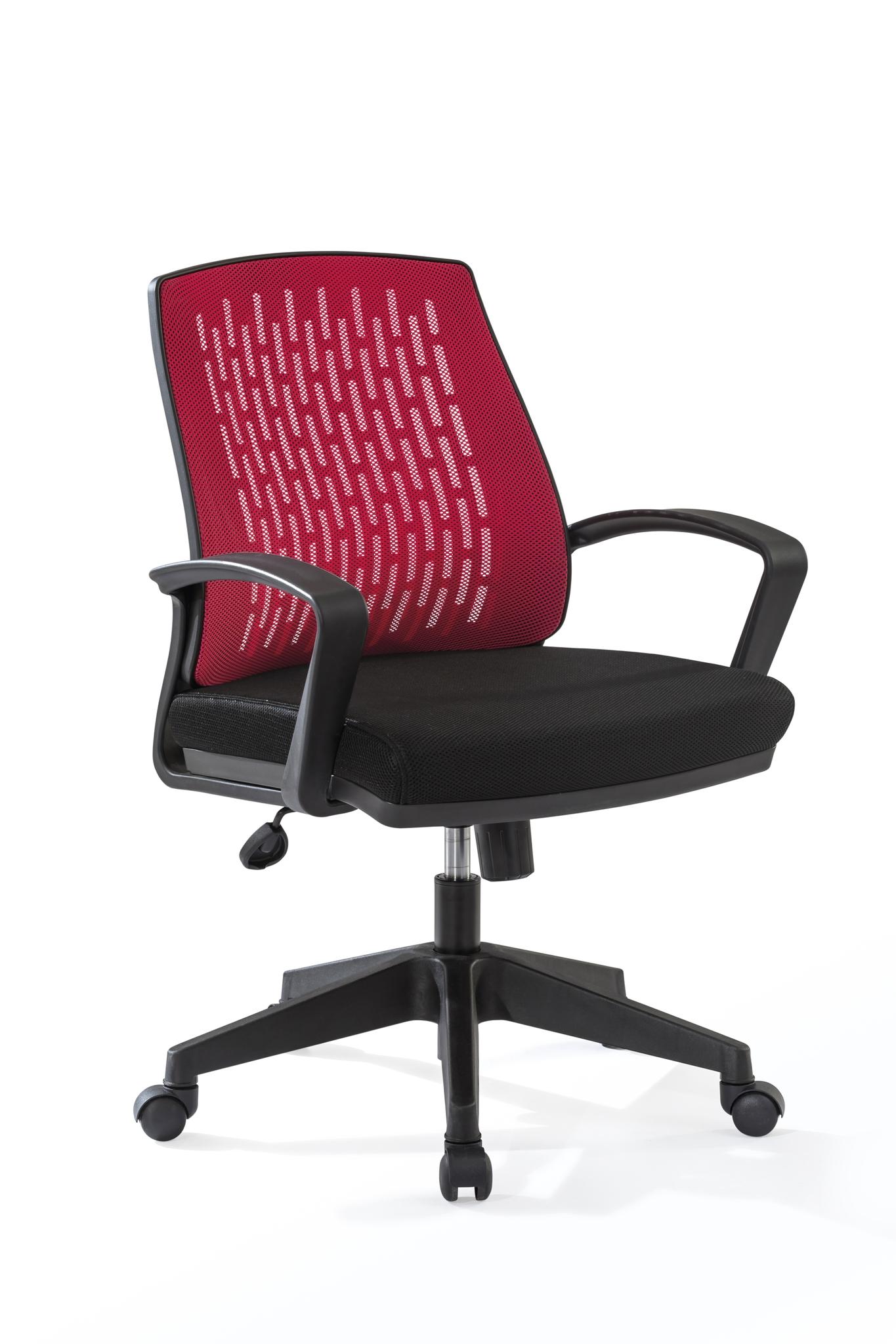 Scaun de birou pentru copii, tapitat cu stofa Comfort Red / Black, l63xA63xH85-95 cm imagine