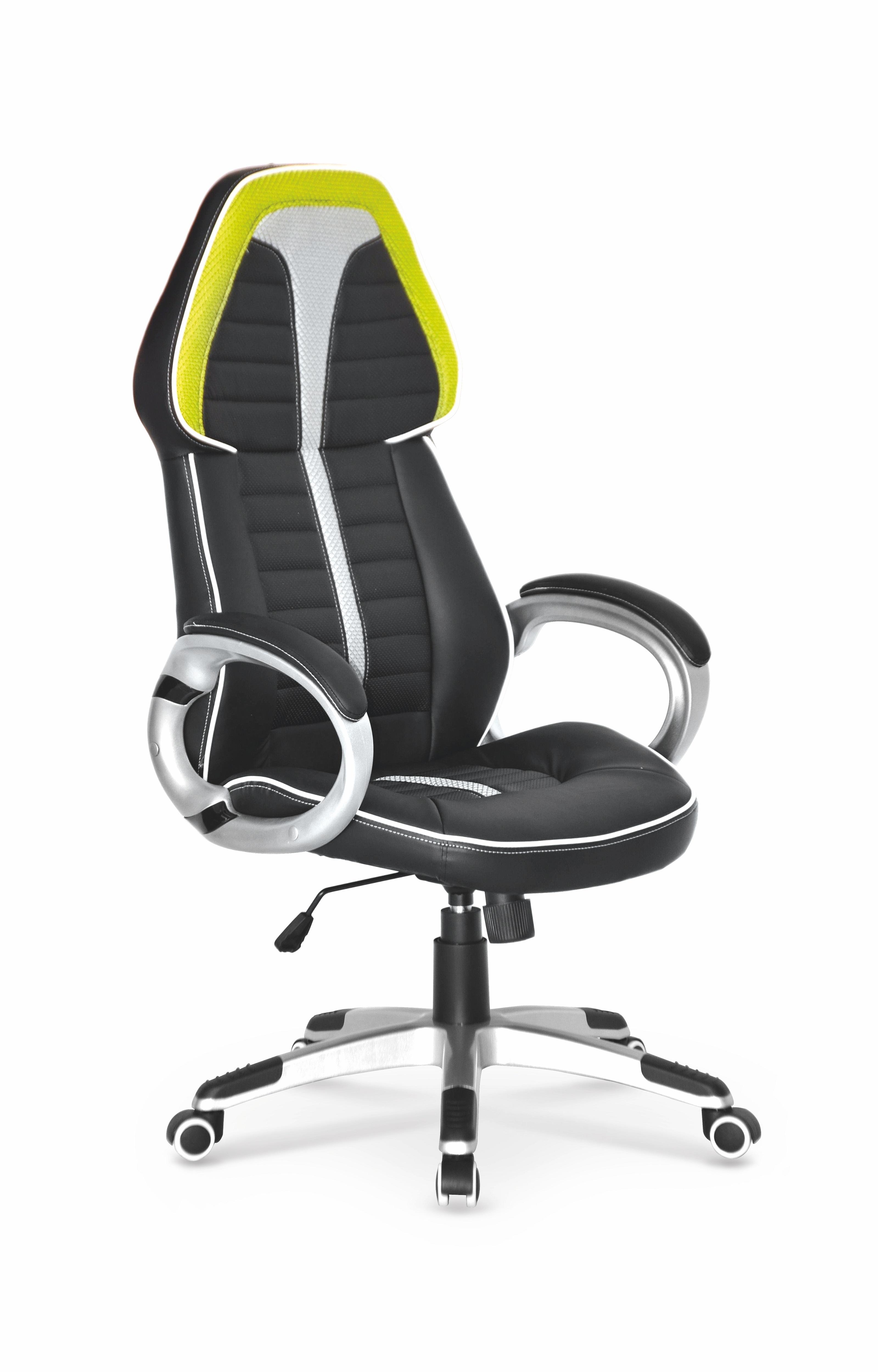 Scaun de birou ergonomic tapitat cu piele ecologica Signet Black / Grey, l64xA75xH115-125 cm somproduct.ro