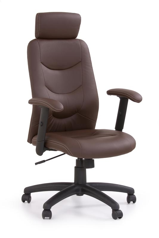 Scaun de birou ergonomic tapitat cu piele ecologica Stilo Maro, l66xA62xH116-125 cm poza