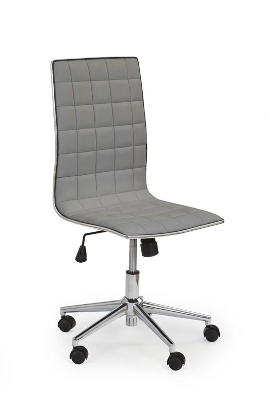 Scaun de birou ergonomic, tapitat cu piele ecologica Tirol Gri, l44xA46xH97-107 cm