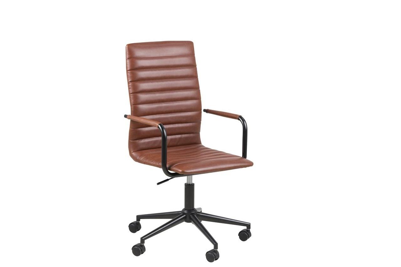 Scaun de birou ergonomic tapitat cu piele ecologica Winslow Maro, l45xA58xH103 cm
