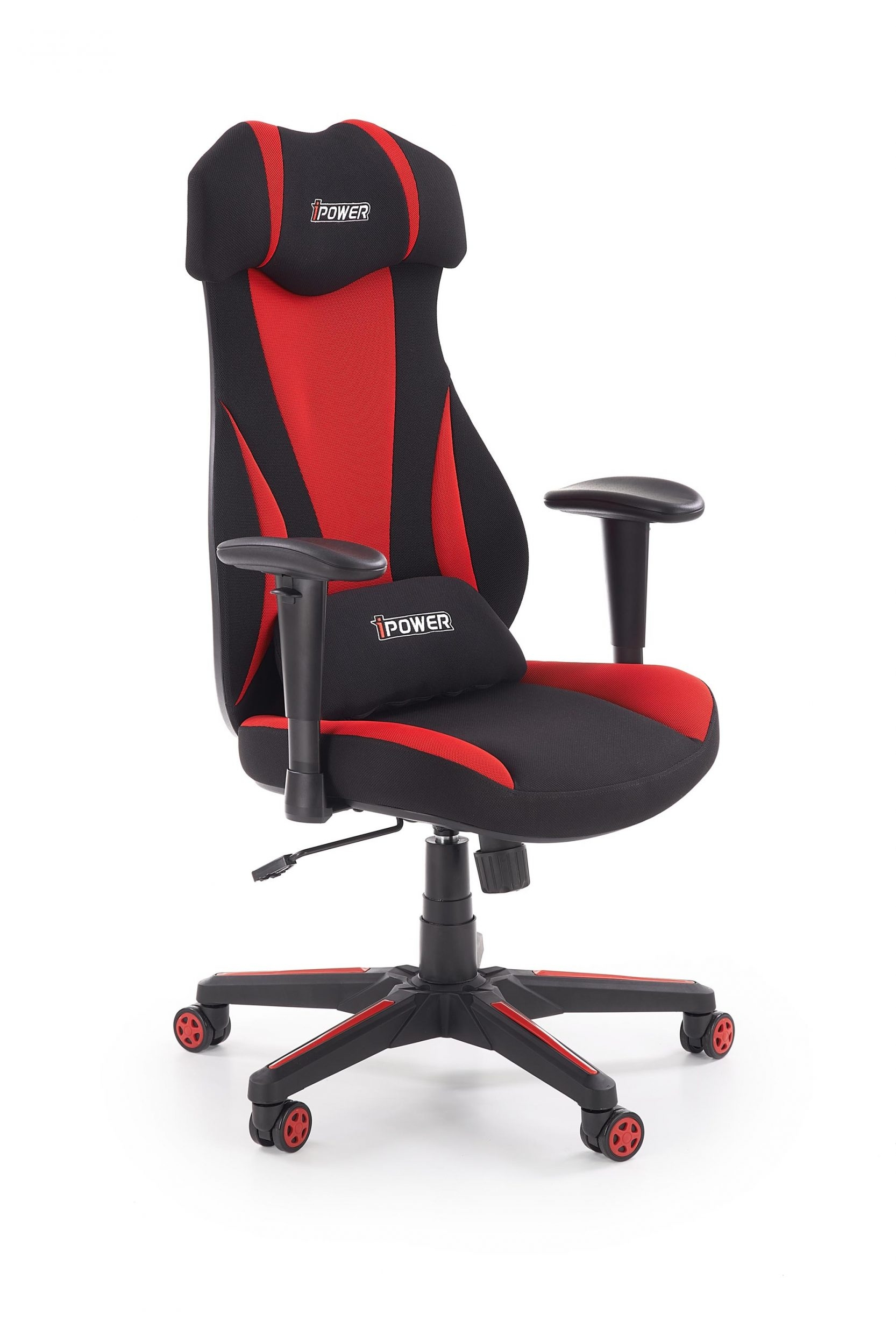 Scaun de birou ergonomic tapitat cu stofa Abart Negru / Rosu l65xA66xH112-120 cm