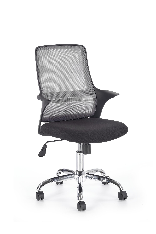 Scaun de birou ergonomic tapitat cu stofa Agen Negru / Gri l58xA58xH94-103 cm