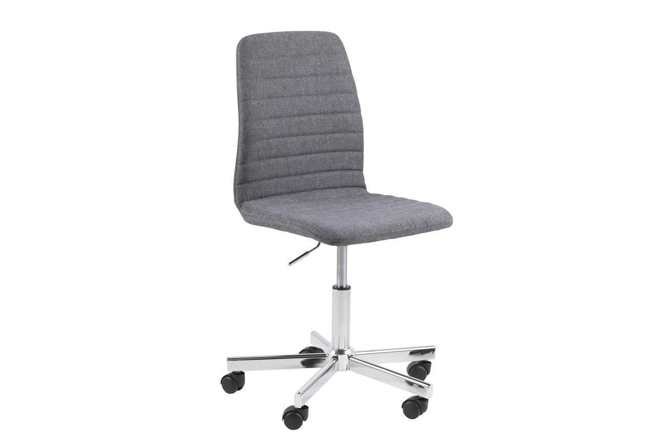 Scaun de birou ergonomic tapitat cu stofa Amanda Gri, l61xA52xH94,5 cm
